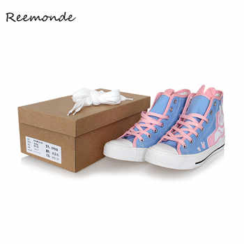 Game OW D.Va Cosplay  DVA DJ Tracer Mercy Dance Boots Flat Heel Canvas Casual Women vulcanize Shoes Sport Halloween Party Girls - DISCOUNT ITEM  15% OFF All Category