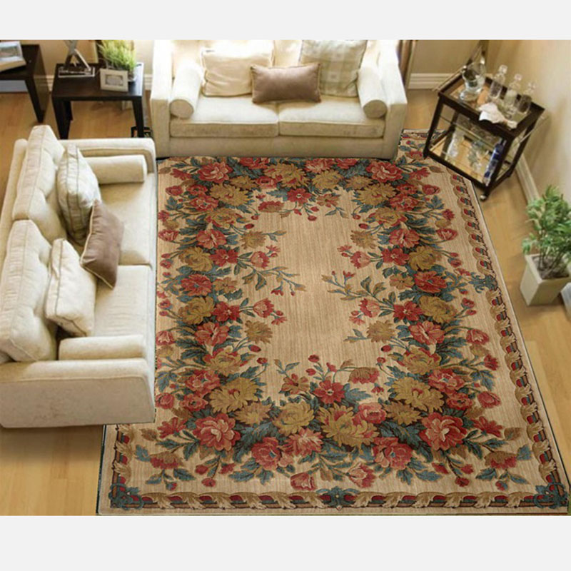 European and American Style Rectangle Round Handmade Wool Carpet For Living Bathroom Bedroom NEW Floor Design Wool Carpet Yarn