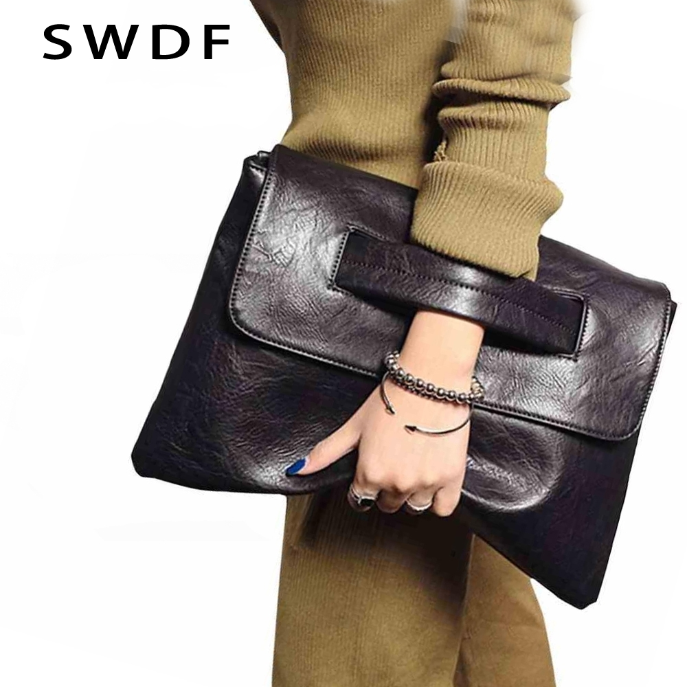 SWDF New Fashion Women Envelope Clutch Bag Leather Women Crossbody Bags Women Trend Handbag Messenger Bag Female Ladies Clutches