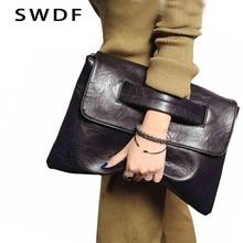 c34586794 SWDF Nova Moda Feminina Saco de Embreagem Envelope Mulheres De Couro  Crossbody Sacos Embreagens Senhoras Das