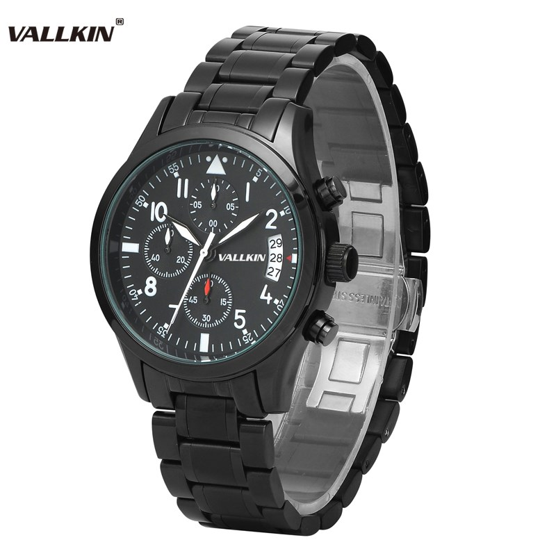 Mens de lujo negro relojes de pulsera masculina relojes de cuarzo - Relojes para hombres - foto 3