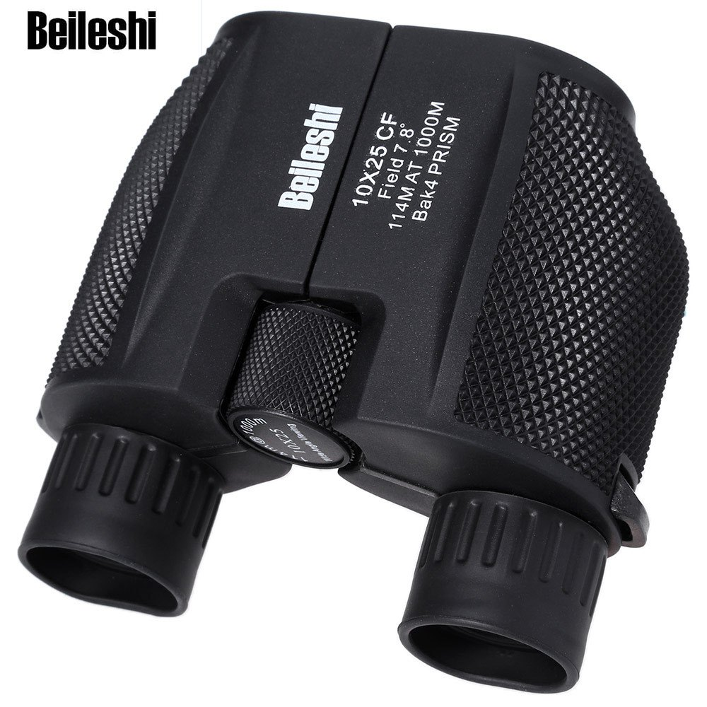 Beileshi 10 X 25 HD 114M - 1000M All-optical Waterproof Binocular Telescope for Tourism For Outdoor Hunting eyebre tdc 10 x 25mm binocular water resistant telescope