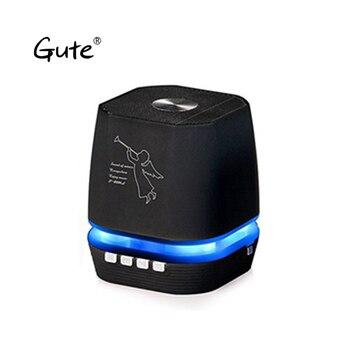 Gute 2019 popular dazzle LED light Bluetooth wireless speaker FM Radio Handsfree call Amplifier caixa de som portatil t330 dia
