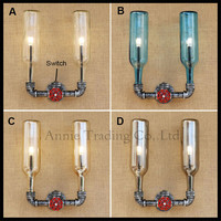 NEW Industrial Steampunk Wall Lamp Retro Wall Light Rustic Vintage Switch Pipe Light LED Decoration For