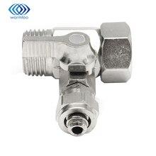 Ро подачи воды фильтр очиститель адаптер 1/2 »до 3/8» мяч Клапан кран безопасный Медь Никель покрытие