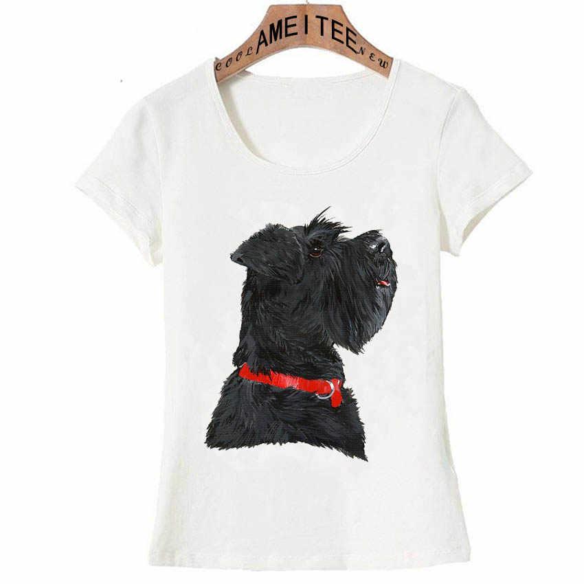 Миниатюрная черная футболка с принтом головы шнауцера Новая женская летняя футболка модные повседневные топы для собак женские новые крутые женские футболки