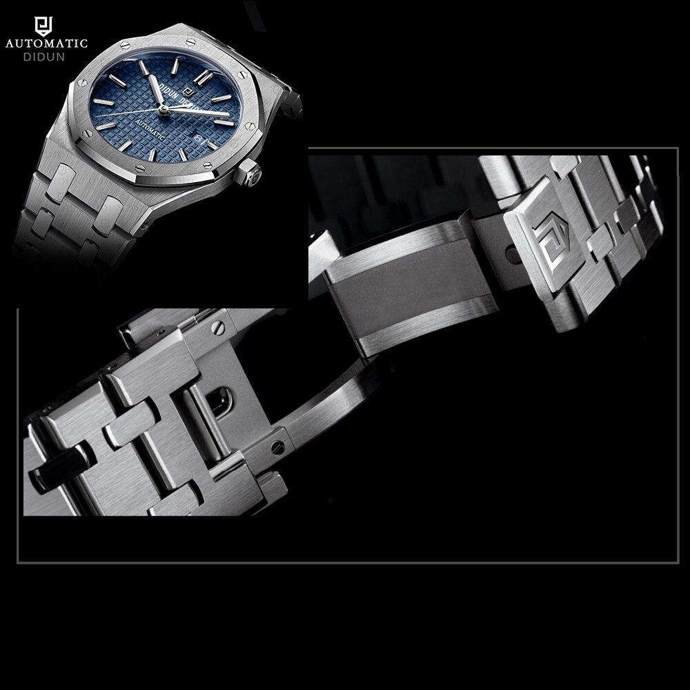 DIDUN часы Для мужчин Элитный бренд автоматические механические часы Для мужчин платье Бизнес часы световой наручные часы 30 М Водонепроницае...