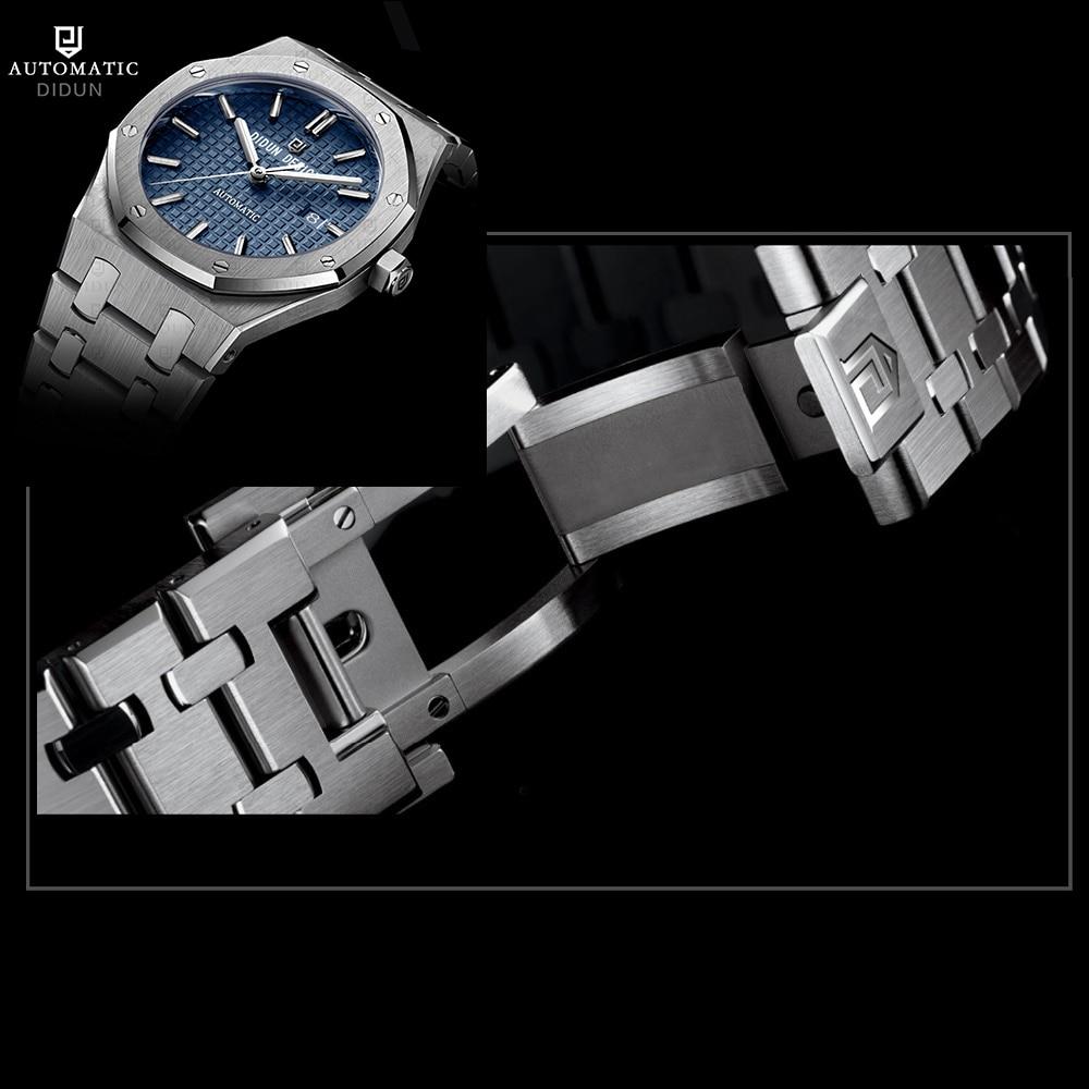 DIDUN часы для мужчин Элитный бренд автоматический деловые часы для мужчин платье бизнес часы световой наручные часы Miyota move для мужчин t