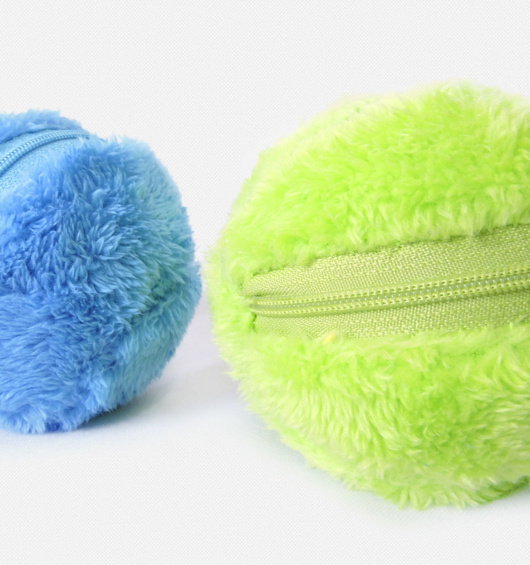 Magic Roller Ball Dog Cat Toy Activation Automatic Ball Chew Plush Floor Clean Toys Electric Pet Automatic Pet Plush Ball