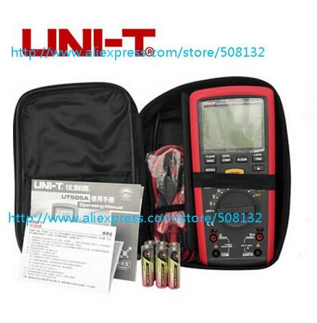 UNI T UT505A 1000V Digital Handheld True RMS Megger Insulation Resistance Meter Tester Multimeter Ohm Voltmeter