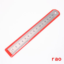 You 15cm Stainless Steel Metal Straight Ruler Tool Precision Double Sided Measuring Office Stationery