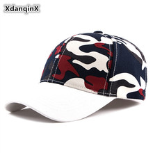 XdanqinX Ponytail Cap Camouflage Baseball Caps For Men Women Personality Hip Hop Hat Adjustable Size Snapback Visor Hats Unisex
