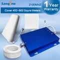 Sanqino Novo Amplificador Repetidor de Sinal de 3G WCDMA Repetidor de Sinal de 2100 MHz HSPA + Repetidor de Sinal de Celular 3G Impulsionador celular para Casa