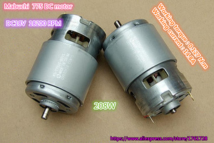 Image 2 - Free shipping ,Brand new Mabuchi 42mm 775 DC motor RS 775VC 18V 18200RPM high speed Large torque drill motor ~