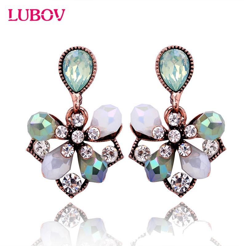 1 Para Wunderschöne Elegante Blütenblätter Ohrstecker Mode Frauen Strass Ohrringe Partei Schmuck Geschenk für Freundin
