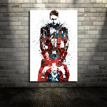 Captain America Infinity Wars Marvel Movie Canvas Poster Wall Art Print Kids Decor Home Decor