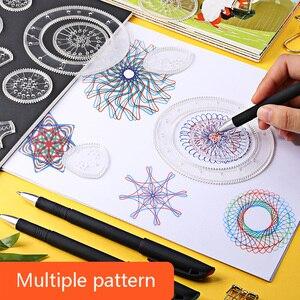 Image 2 - 27 Chiếc Bộ Vẽ Họa Tiết Spirograph Bộ Đồ Chơi Ảo Thuật Tranh Bản Mẫu Hình Học Thước Sáng Tạo Đồ Chơi Giáo Dục Cho Trẻ Em Người Lớn