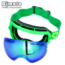 Bjmoto Ski Goggles Winter sport double layers anti-fog ski mask glasses skiing helmet men women snow snowboard goggles glasses цена в Москве и Питере