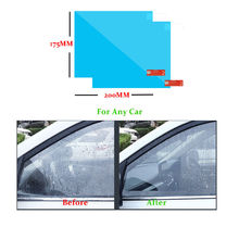 2PCS Car Anti Water Mist Film Universal Auto Window Rainproof Rearview Mirror Protective For Suv Truck
