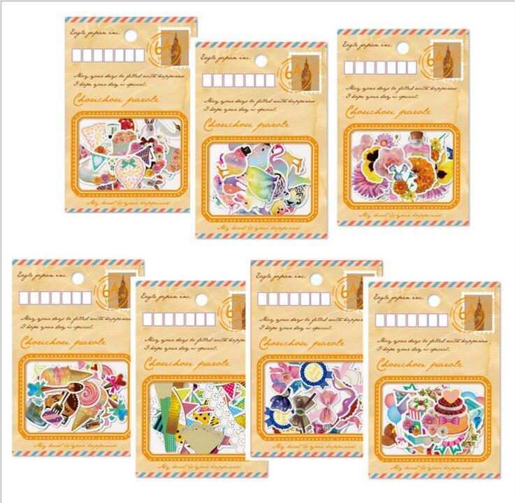 80 pcs /1set Kawaii Scrapbooking stickers Girls Love Dold Cute Korea Stationery post it Decoration Label Albums PhotoTag