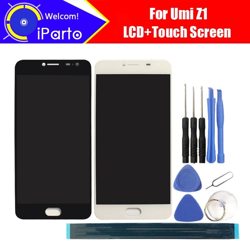 5.5 дюймов umidigi Z1 ЖК-дисплей Дисплей + Сенсорный экран 100% оригинал испытания планшета Стекло Панель Замена для UMI Z1 1920X1080 + Инструменты