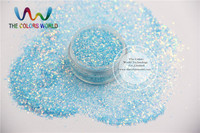 TCR37 H1 Mix Pearlescent Iridescent Light Blue Rainbow Colors Fine Glitter Dust For Nail Art Or