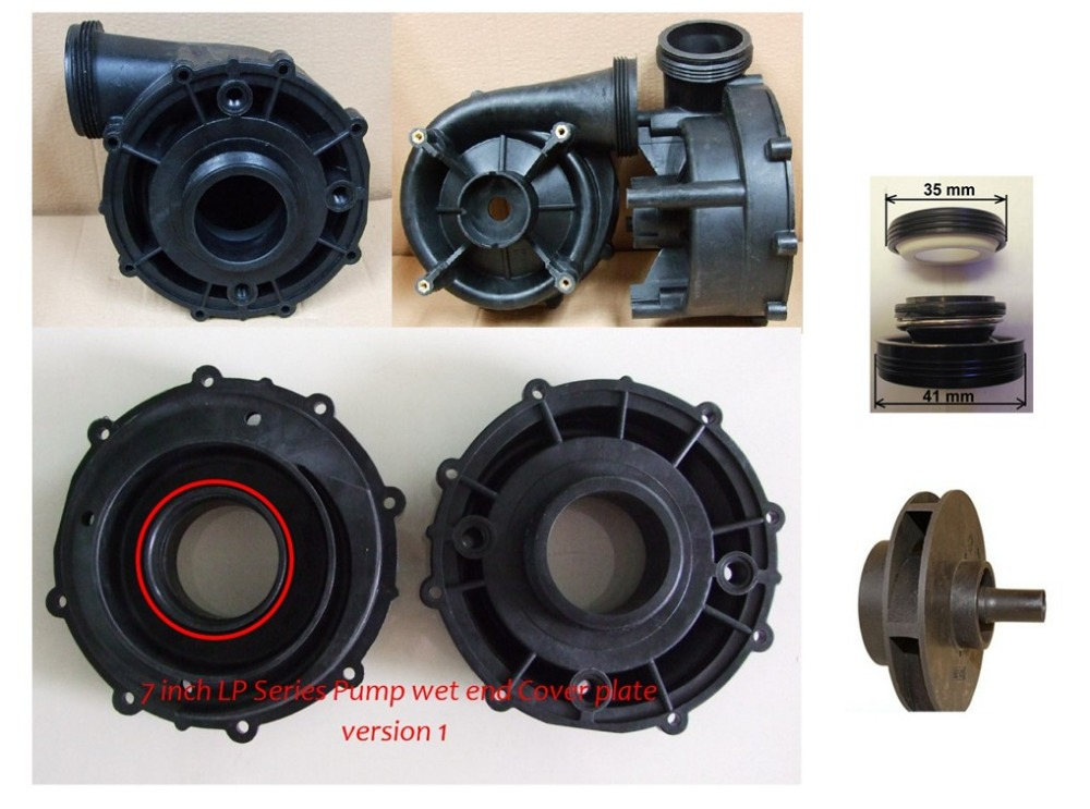 Wet End part of LX LP300  pump body cover ,impeller and seal seal whole pump wet end part for lx lp series including pump body pump cover impeller seal