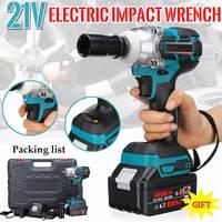 21 v 10000mah li-ion chave de impacto elétrica armas 330nm torque máximo chave de impacto sem fio 2 baterias 1 carregador ferramenta elétrica