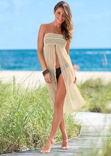 Women Sleeveless Beach Crochet Lace Coverup