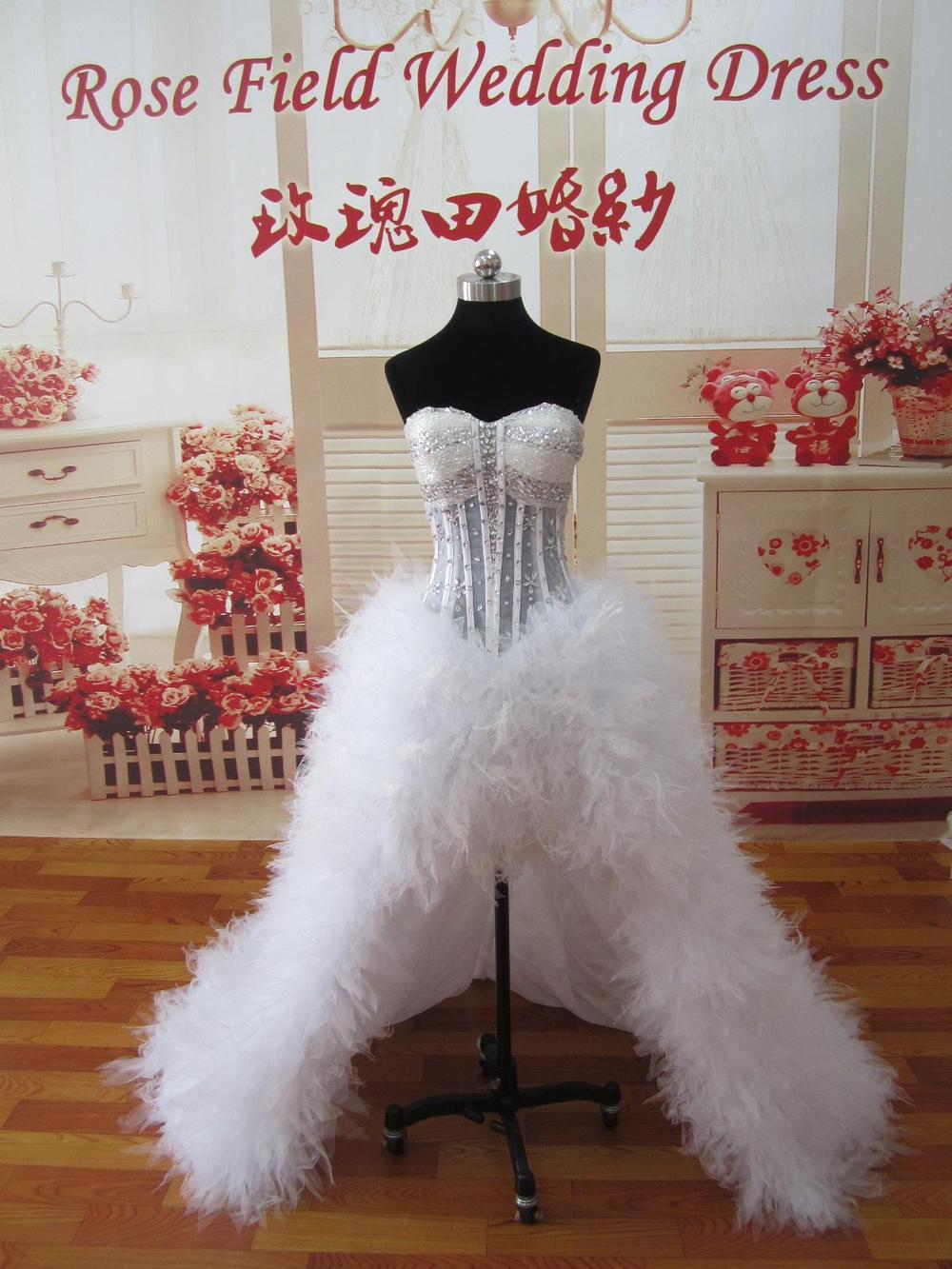 short white feather wedding dress feathered wedding dress The City Facebook Twitter