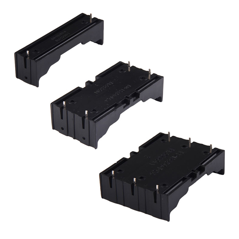 ALLOYSEED ABS 18650 Battery Holder Box Hard Pin 18650 Holder Batteries Case 1X 2X 3X 18650 Rechargeable Battery Power Bank Cases edt 5 pcs black plastic 3 x 3 7v 18650 batteries 6 pin battery holder case
