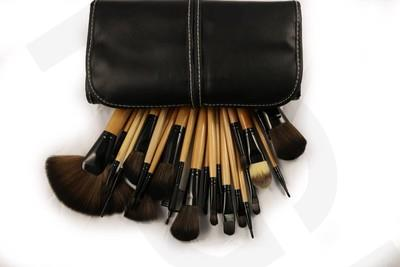by DHL or EMS 50sets Professional Soft 24pcs Makeup Brushes Set Cosmetic Real Make Up Tools eyeshadow blush Set with Leather Bag dhl ems 4 sets p f obt200 18gm60 e4