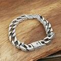 2017 Hot Sale Puck Rock Original buckle bracelet 925 sterling silver chain bracelet bangle for men and women fine jewelry GB37