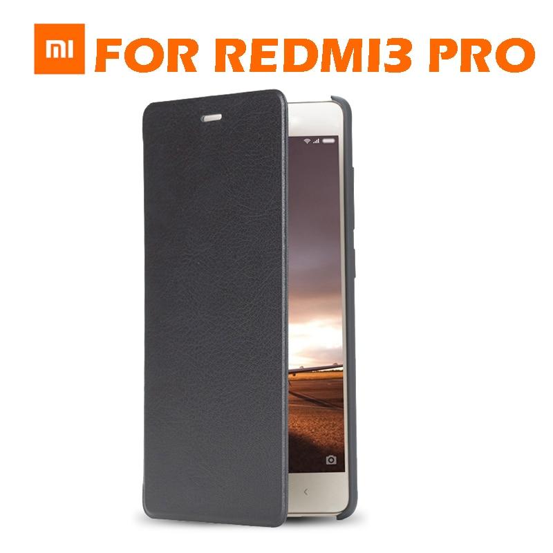bilder für AUF LAGER 100% Original Flip fall-abdeckung für Xiaomi Redmi 3 pro Redmi 3 s protector fall flip sabic matte leder abdeckung einzelhandel box