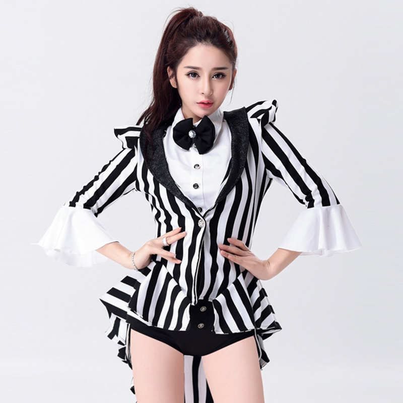 Sexy Magician Costume For Women Halloween Party Cosplay Costume Jazz Suits Night Club Singer ...
