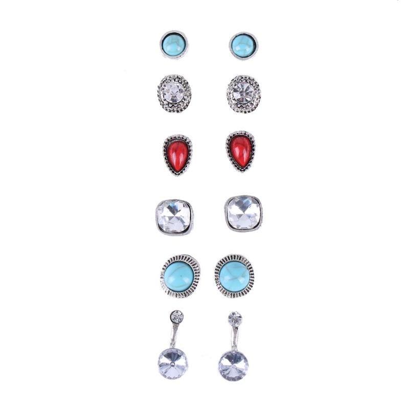 Good Deal Fashion Wedding Earrings Women Jewelry Glass Resin Multi ...