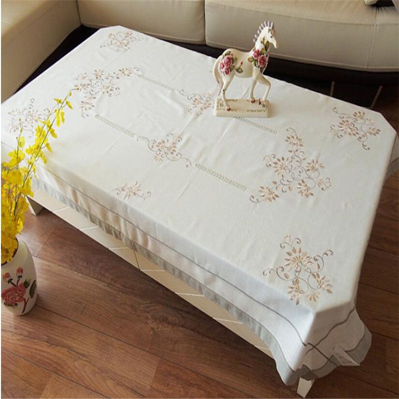 Free Shipping Pastoral Style Rectangle linen Flowe Tablecloth Table Cover Coffee Dining Table Cloth For Wedding Gift Oil Proof