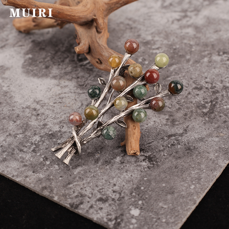 Women Brooch Colorful Beads Alloy Safety Party Ball Dresses Elegant Broches Scarf Pins Mujer New Fashion Gifts For Girl Friend