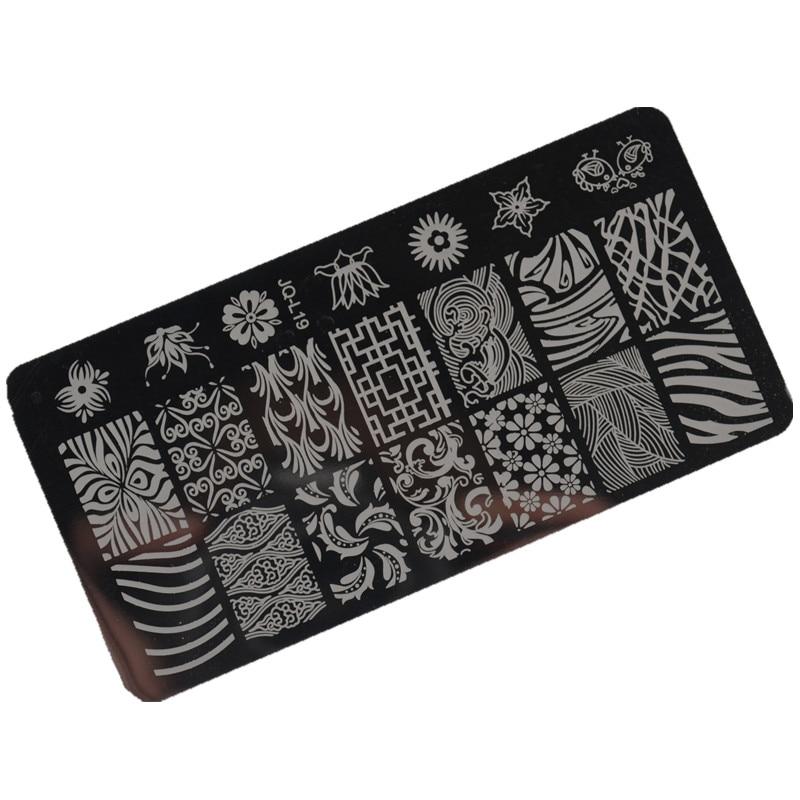 1 Stücke Nail art Stamping Stamping Platte 6 * 12 cm Edelstahl Nagel - Nagel Kunst - Foto 4