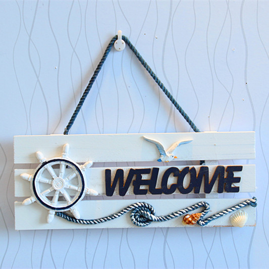 Welcome sign country style wood wall shelf decorative door plates nautical decor zakka home decor  sc 1 st  AliExpress.com & Welcome sign country style wood wall shelf decorative door plates ...