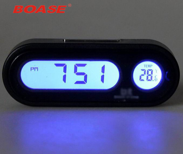 Good Quality Fashion Car Clock Auto Vehicle Mini Backlight Vute