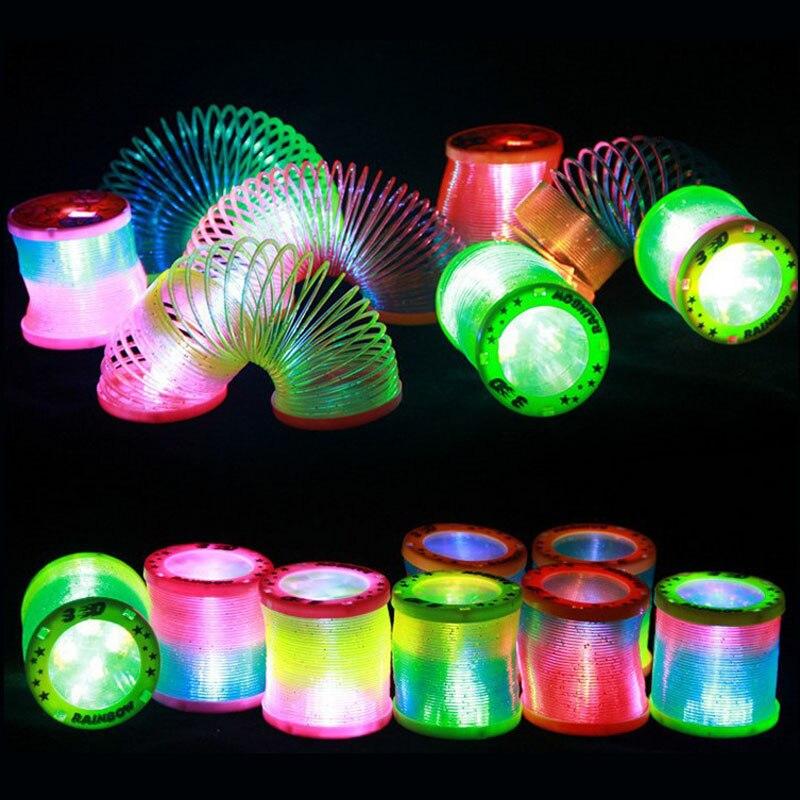 New Magic Rainbow Circle Luminous Luminous Rainbow Circle Flashing Circle Magic Spring Ring Toy