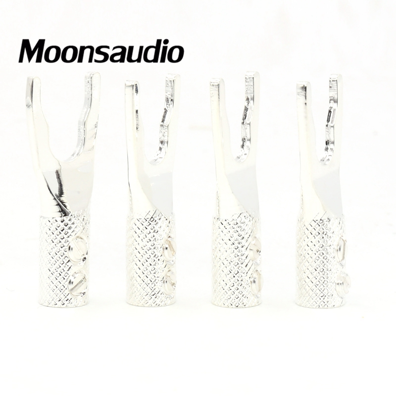 Free shipping 8pcs Moonsaudio pure Copper silver plated Y