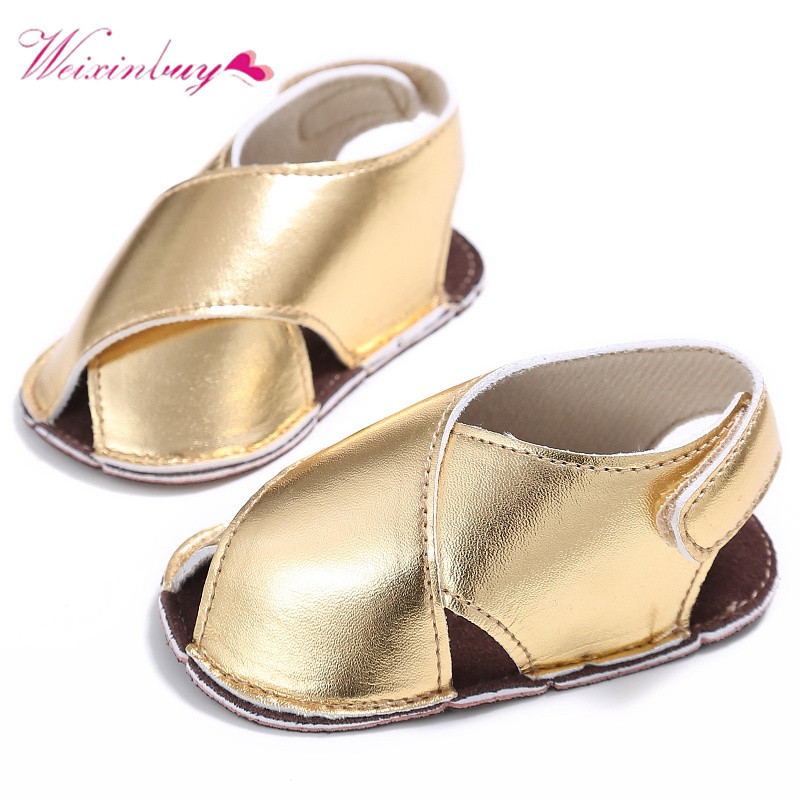Baby Girls Summer Fashion Shoes 0 18M Summer Newborn Kids Toddler PU  Leather Gold Silver Color Sandals-in Sandals from Mother   Kids on  Aliexpress.com ... c57517767438