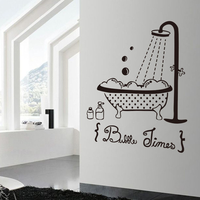 Bathroom swimming pool wall sticker muraux pour enfants chambres wall stickers home decor living room vinyl