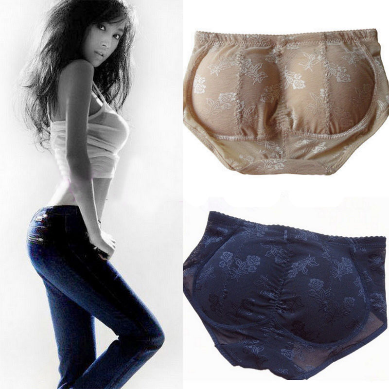 Lace Sexy Panty Knickers Buttock Backside Silicone Bum Padded Butt Enhancer Hip Push Up Underwear Silicone Insert Pants