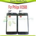 Para philips w3568 digitador da tela de toque do painel de vidro frete grátis china versão nenhuma câmera frontal