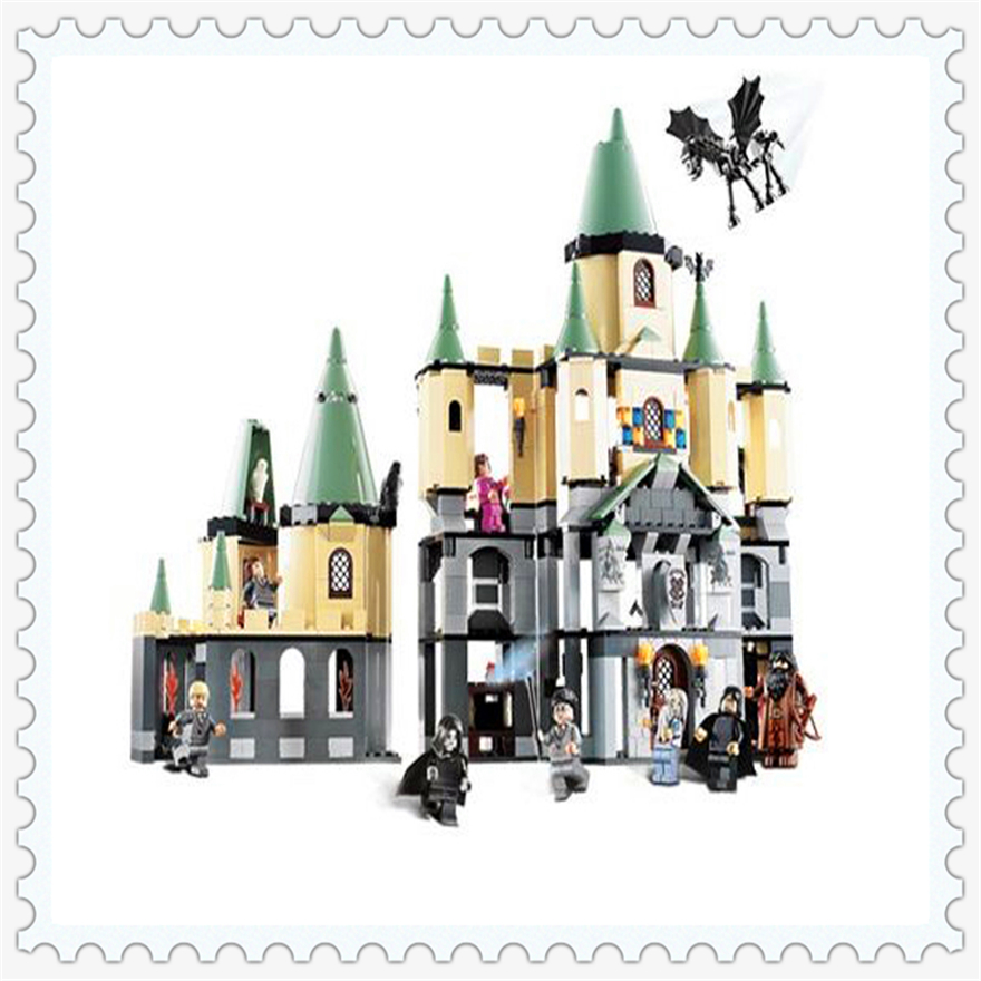 1033Pcs Harry Potter Magic Hogwarts Castle Model Building Block Toys LEPIN 16029 Figure Gift For Children Compatible Legoe 5378 lepin 22001 pirate ship imperial warships model building block briks toys gift 1717pcs compatible legoed 10210