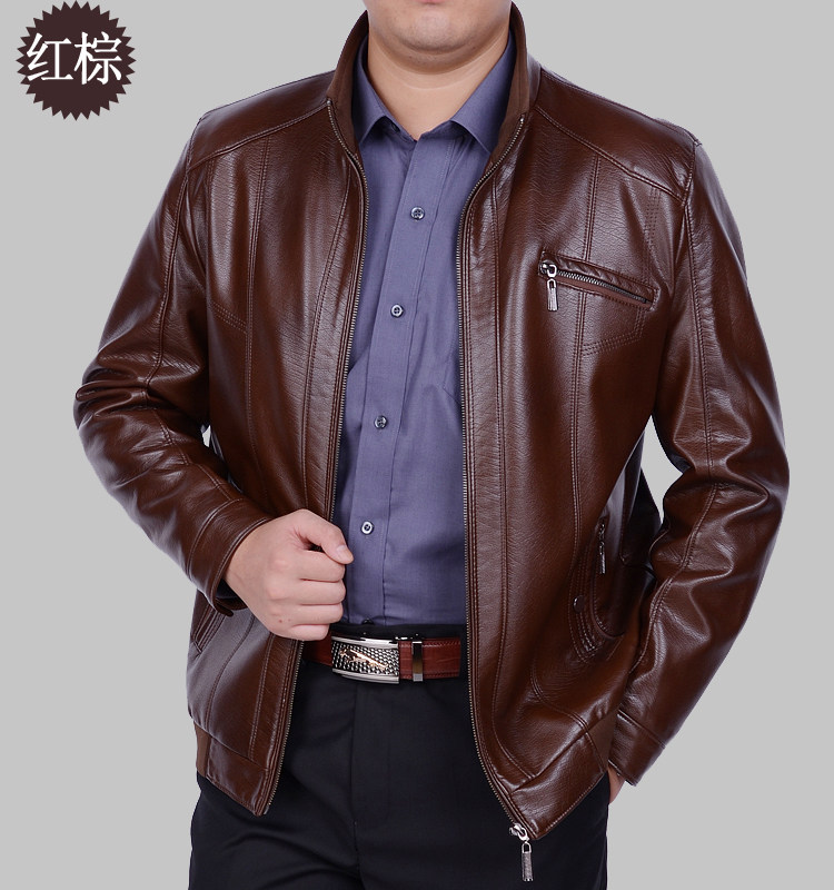 The New Spring 2017 Sheep Skin Man Leather Coat High-grade Leather Bomber Jackets For Men Men's Fashion Leather Coat M-xxxl
