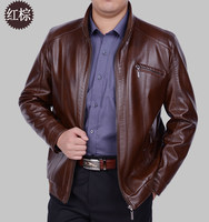 The New Spring 2019 Sheep Skin Man Leather Coat High grade Leather Bomber Jackets For Men Men's Fashion Leather Coat M xxxl